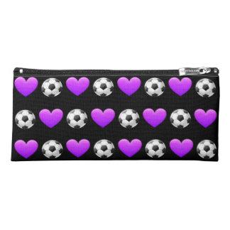 Purple Soccer Ball Pencil Case