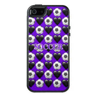 Purple Soccer Emoji iPhone SE/5/5s Otterbox Case