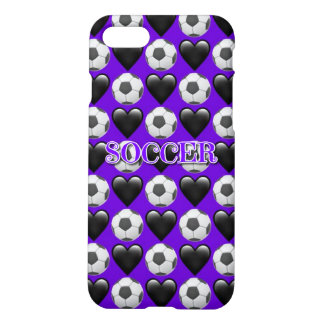 Purple Soccer iPhone 7 Matte Case