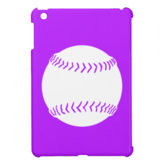 Purple Softball Silhouette iPad Mini Case