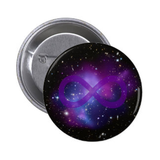 Purple Space Image 2 Inch Round Button