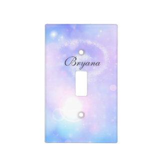 Purple Spacey Lights Cosmic Galaxy Light Switch