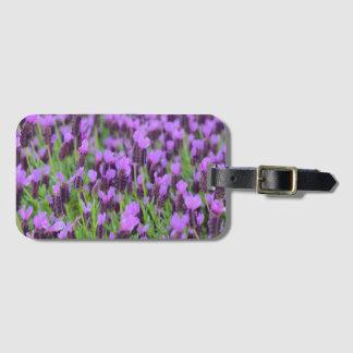 Purple Spanish Lavender Flower Bag Tag