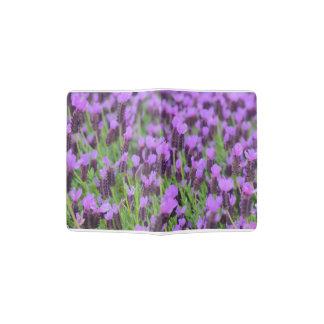 Purple Spanish Lavender Flower Passport Holder