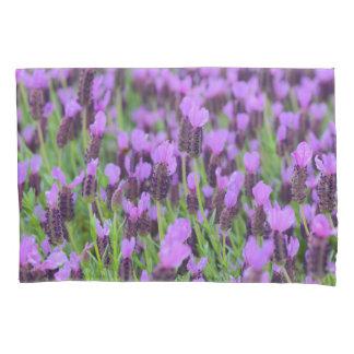 Purple Spanish Lavender Flower Pillowcase