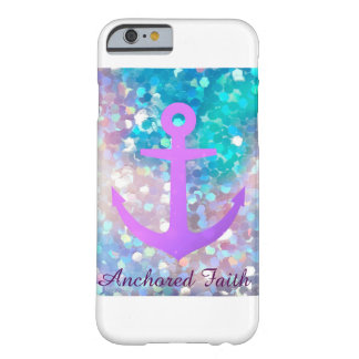 Purple Sparkle Anchored Faith Phone Case