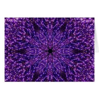 Purple sparkle card