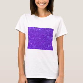 Purple Sparkle Glitter Custom Design Your Own T-Shirt