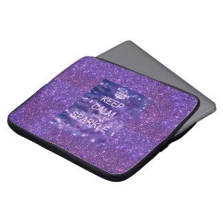 Purple Sparkle laptop case