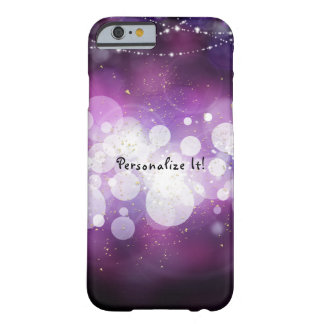 Purple Sparkle Lights Glamour Chic Personalized Barely There iPhone 6 Case