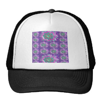 PURPLE Sparkle Star Pattern Goodluck Holy fun GIFT Mesh Hats