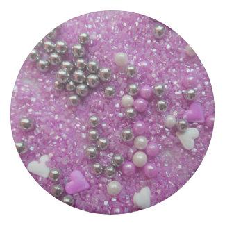 Purple Sparkles and Love Hearts Eraser