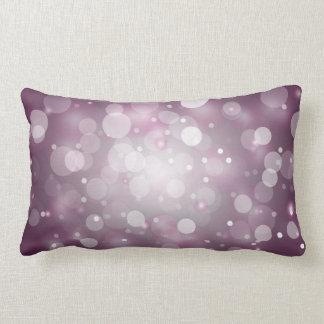Purple Sparkles Light Design Pillow