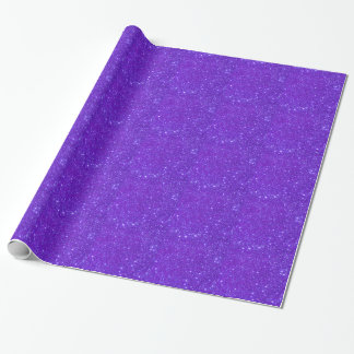 Purple Sparkly Glittery Girlie Girl Wrapping Paper