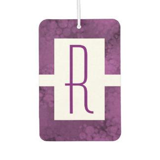 Purple Speckled Monogram Car Air Freshener