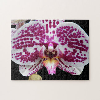 Purple Speckled Moth Orchid Floral Jigsaw Puzzle