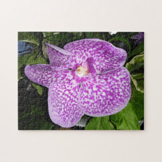 Purple Speckled Orchid Jigsaw Puzzle