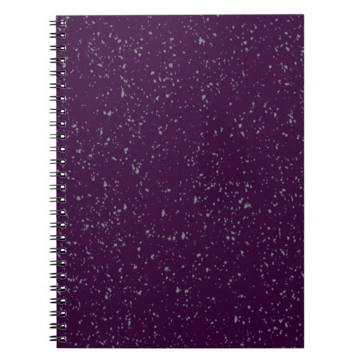 Purple Speckles Notebook Note Book