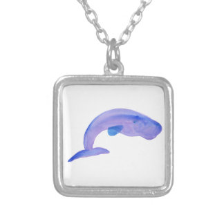 Purple Sperm Whale Silver Plated Necklace