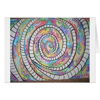 Purple Spiral Card