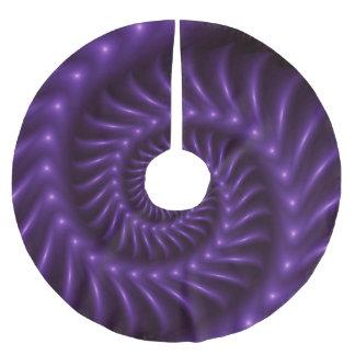 Purple Spiral Fractal Tree Skirt Brushed Polyester Tree Skirt