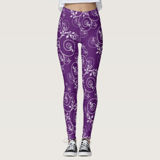 Purple Spiral Leggings