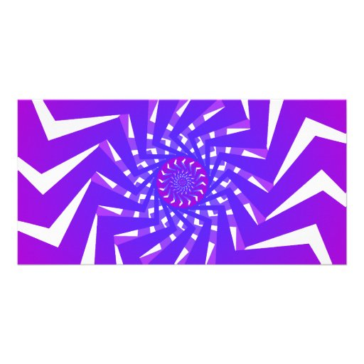 Purple Spiral Pattern: Vector Art: Personalized Photo Card