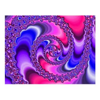 Purple Spiral Postcard