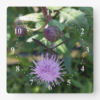 purple splash wall clock
