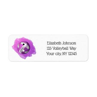purple splash yin yang volleyball address