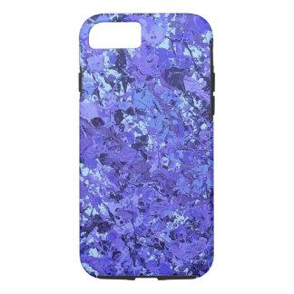 Purple splatter paint phone case