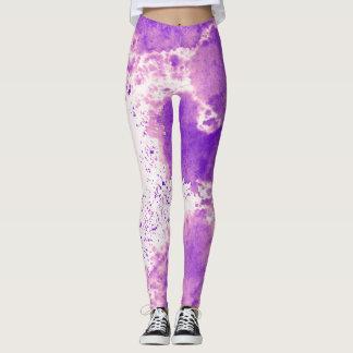 Purple Splatter Yoga Leggings