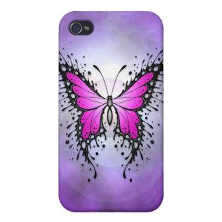 Purple Spler Butterfly iPhone 4 Cover