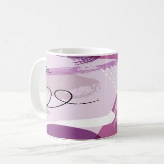 Purple Splotches Abstract Coffee Mug
