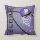 Purple Sport Basketball | DIY Name and Number Throw Pillow