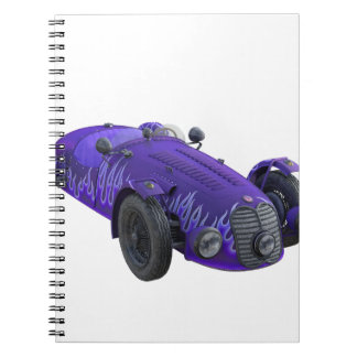 Purple Sports Car Notebook