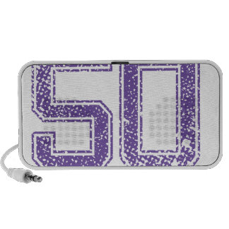 Purple Sports Jerzee Number 50.png Mp3 Speakers