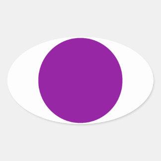 Purple Spot Oval Sticker