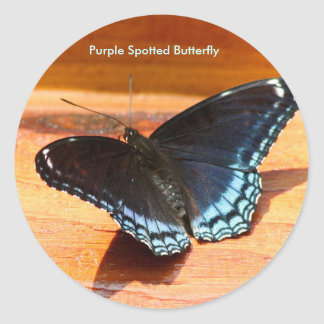 Purple Spotted Butterfly Stickers