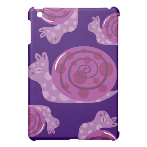 Purple Spotted Snail Cover For The iPad Mini