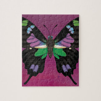 Purple Spotted Swallowtail Jigsaw Puzzle