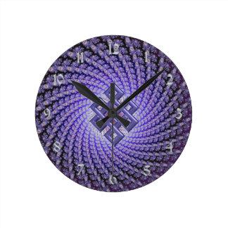 Purple Spral Fractal Celtic Diamond Clock