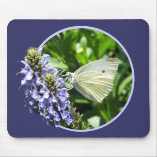 Purple Spring Butterfly Mouse Pad