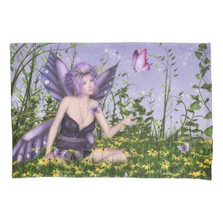 Purple Spring Fairy (2 sides) Pillowcase