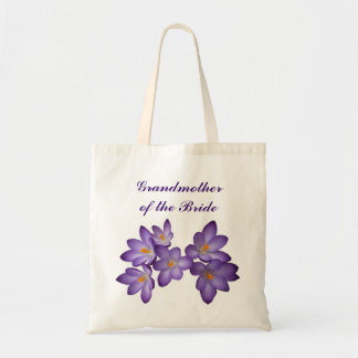 Purple Spring Floral Grandmother of the Bride Tote Bag