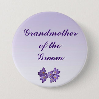 Purple Spring Floral Grandmother of the Groom Pin