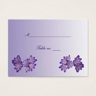 Purple Spring Floral Wedding Escort Card