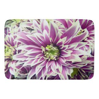 Purple spring flower bath mat