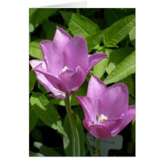 Purple Spring Flowers Customizable Borderless Card
