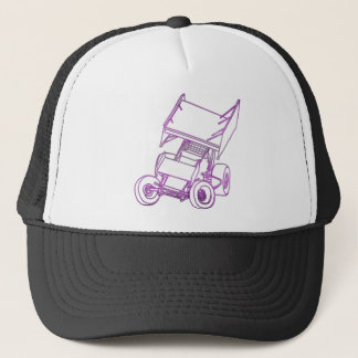 Purple sprint skewed trucker hat